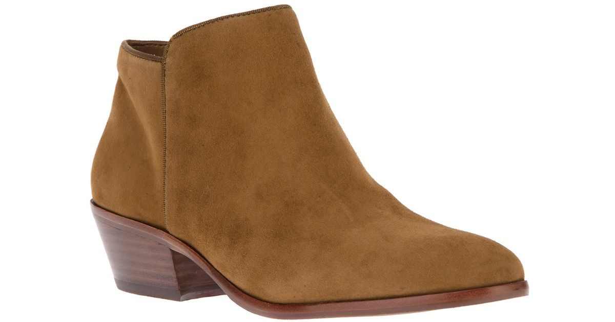 ce060bc515f10 Lyst - Sam Edelman Suede Ankle Boot in Brown