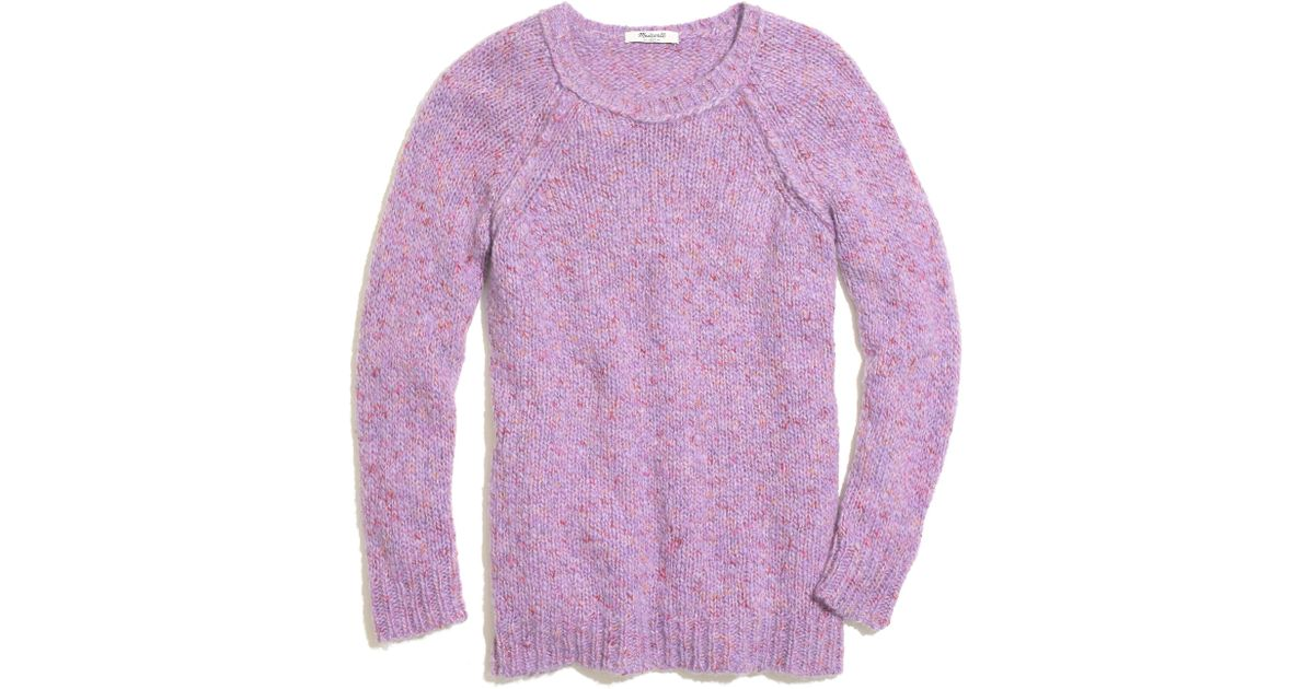 Madewell Soft fleck Sweater in Purple | Lyst