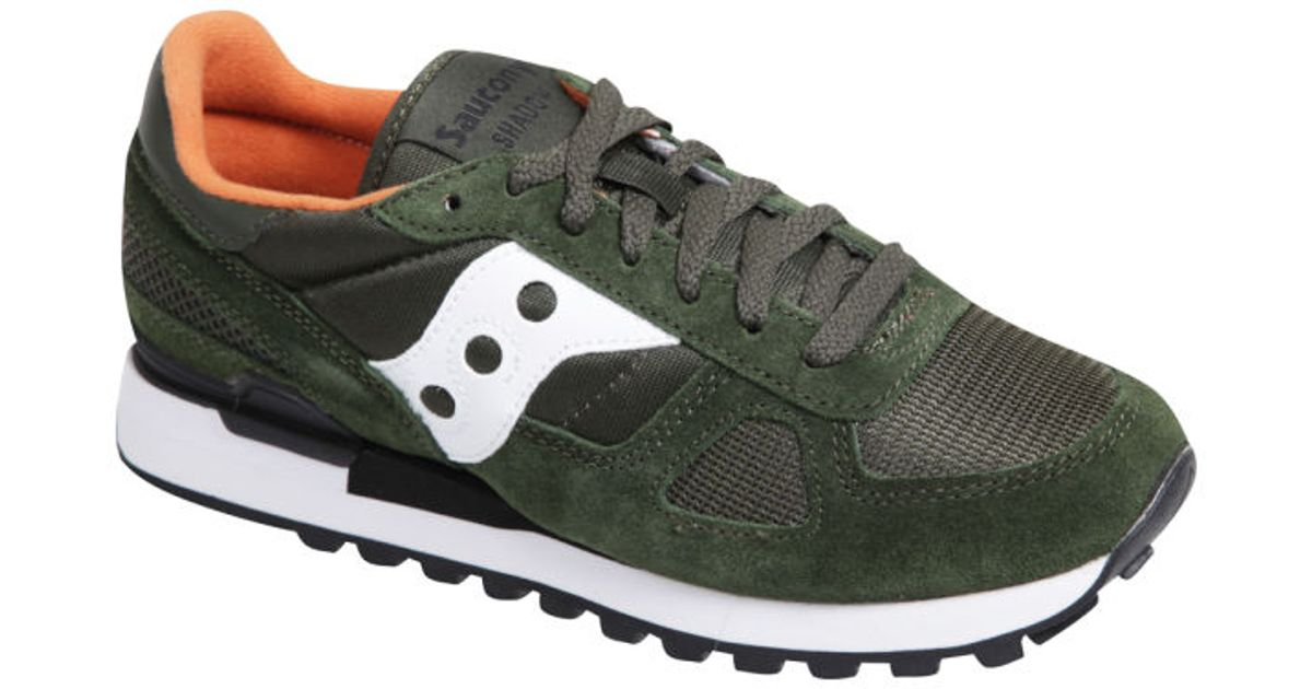 a04e068ce24e2 Saucony Mens Shadow Original Trainers in Green for Men - Lyst