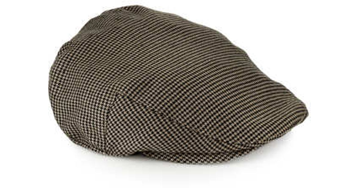 dac8cc0e7 TOPMAN - Brown Dogtooth Flatcap for Men - Lyst