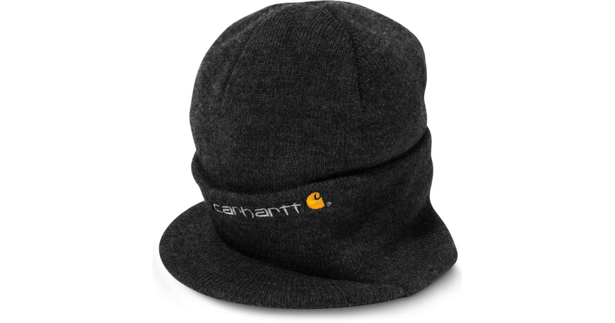Lyst - Carhartt Knit Hat with Visor in Black for Men aab83d2ad57