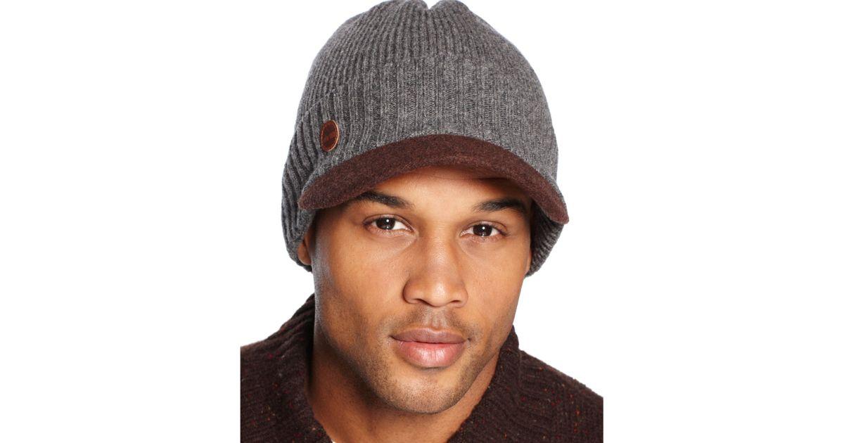 55ea5622f0e73 Timberland Wool Visor Beanie in Gray for Men - Lyst