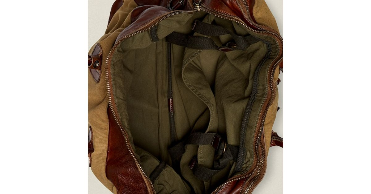 8a5808bc25 Lyst - RRL Canvas Leather Cargo Bag in Brown for Men