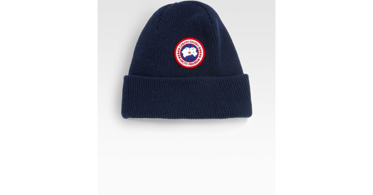 f04eff1cea495 Canada Goose Merino Wool Watch Cap in Blue for Men - Lyst