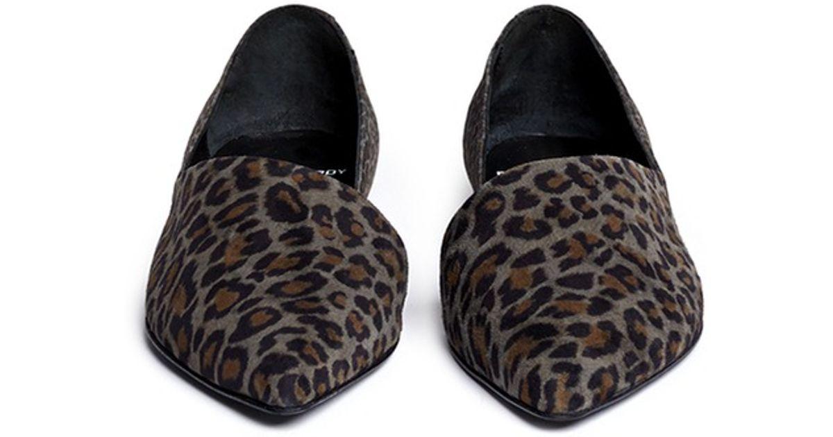 679094102d7 Lyst - Pierre Hardy Leopard-print Suede Cutout Flats