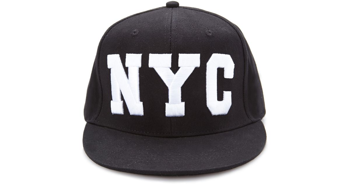 Lyst - Forever 21 Nyc Snapback Hat in Black for Men cefc2458e2c