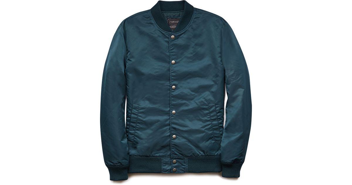Forever 21 Everyday Bomber Jacket in Green for Men | Lyst