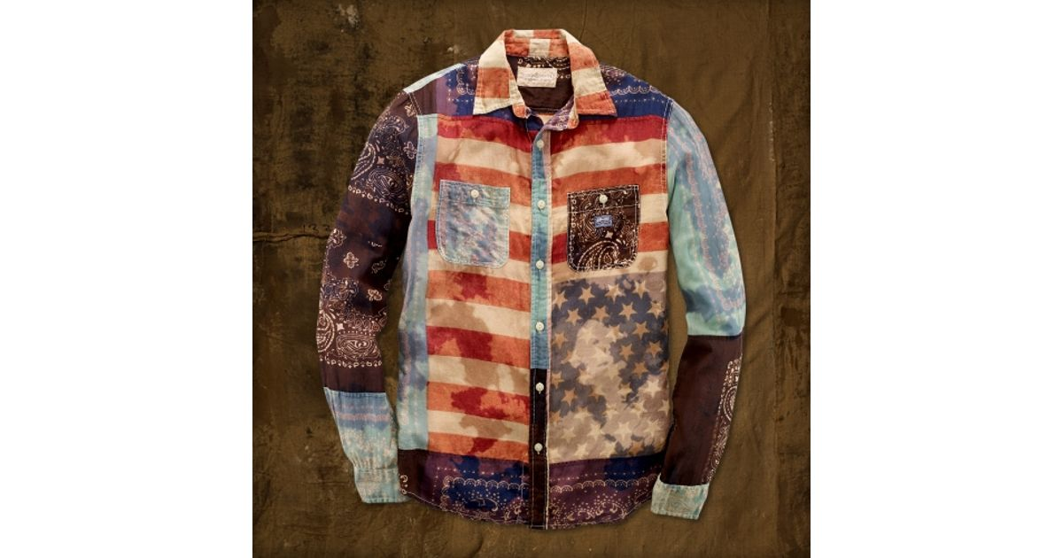 f09c15fdd9 Lyst - Denim   Supply Ralph Lauren Americana Ward Shirt for Men