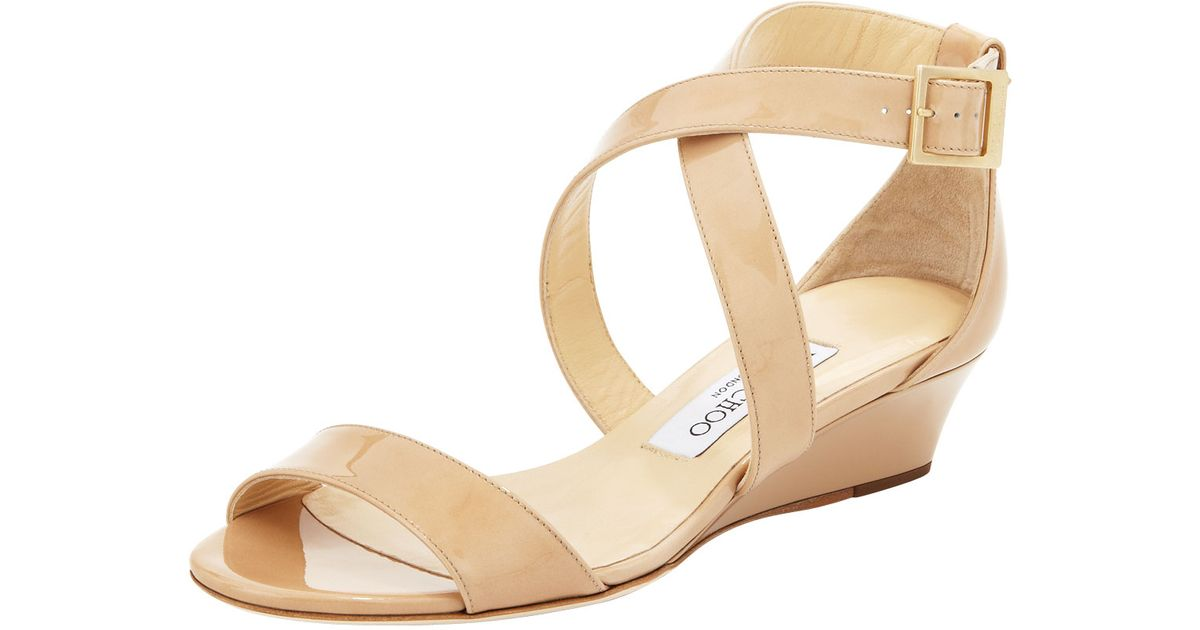 dd5a6a93e31 Lyst - Jimmy Choo Chiara Demi-Wedge Crisscross Sandal in Natural