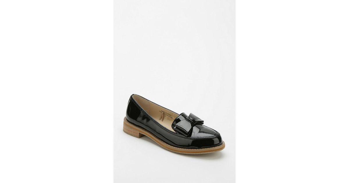 2960c7e517f Lyst - Urban Outfitters Cooperative Patent Bow Loafer in Black
