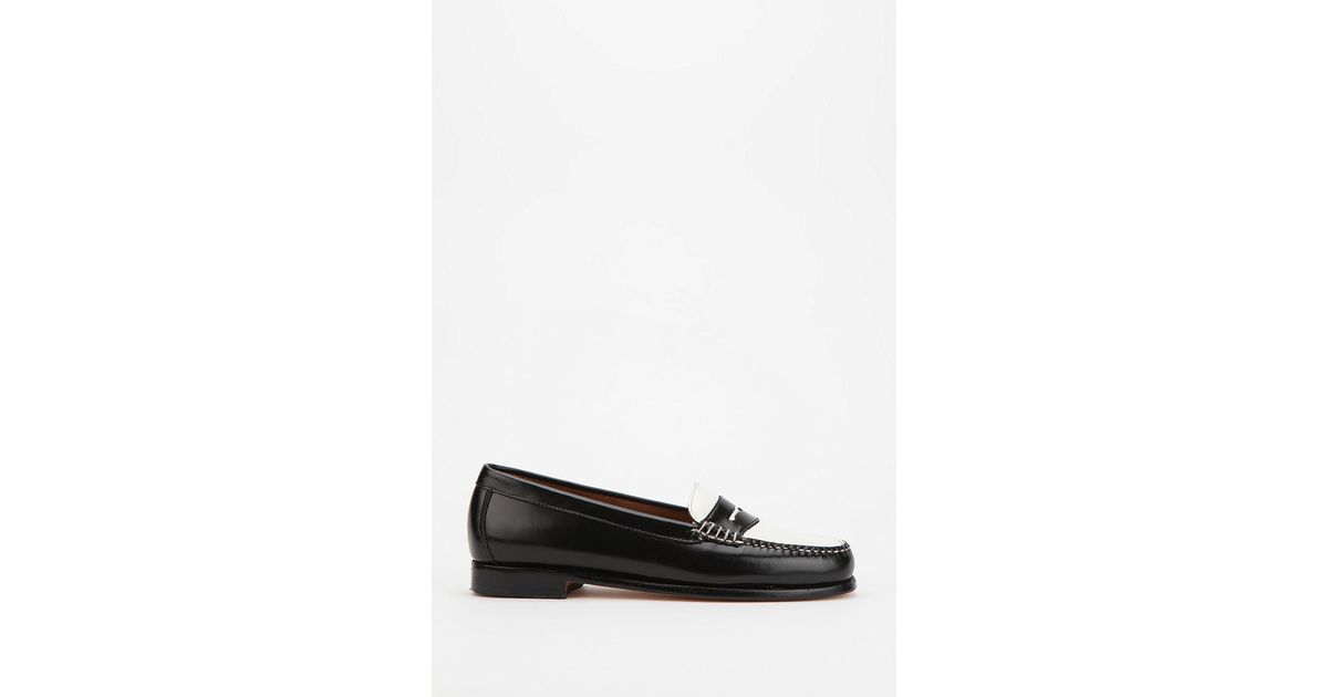 8b36bcdad88 Lyst - Urban Outfitters Bass Wayfarer Twotone Penny Loafer in Black