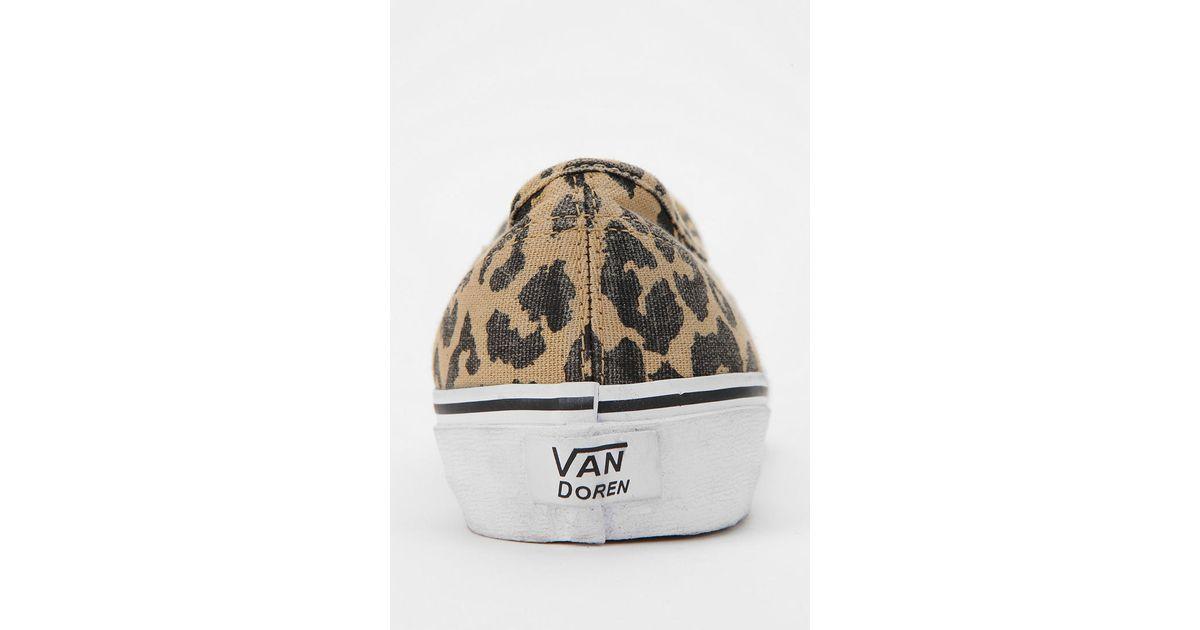Lyst - Urban Outfitters Vans Authentic Van Doren Leopard Print Womens  Sneaker 0f44029f0