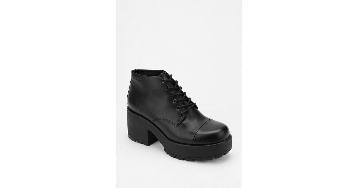 448ae2c3171 Lyst - Urban Outfitters Vagabond Dion Laceup Platform Ankle Boot in Black