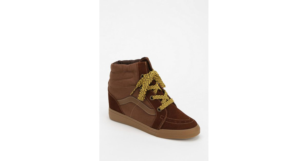 Lyst - Urban Outfitters Sk8hi Hidden Wedge Womens Hightop Sneaker in Brown 4e90012f2f06