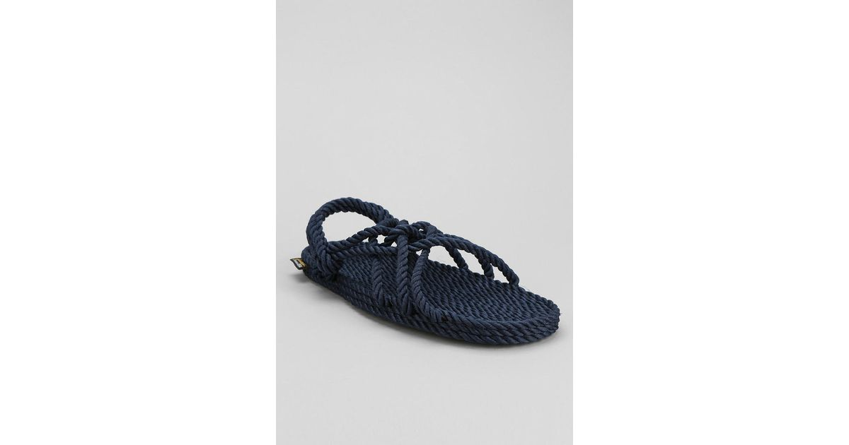 a2628c44a Lyst - Urban Outfitters Burkman Bros X Gurkees Neptune Rope Sandal in Blue