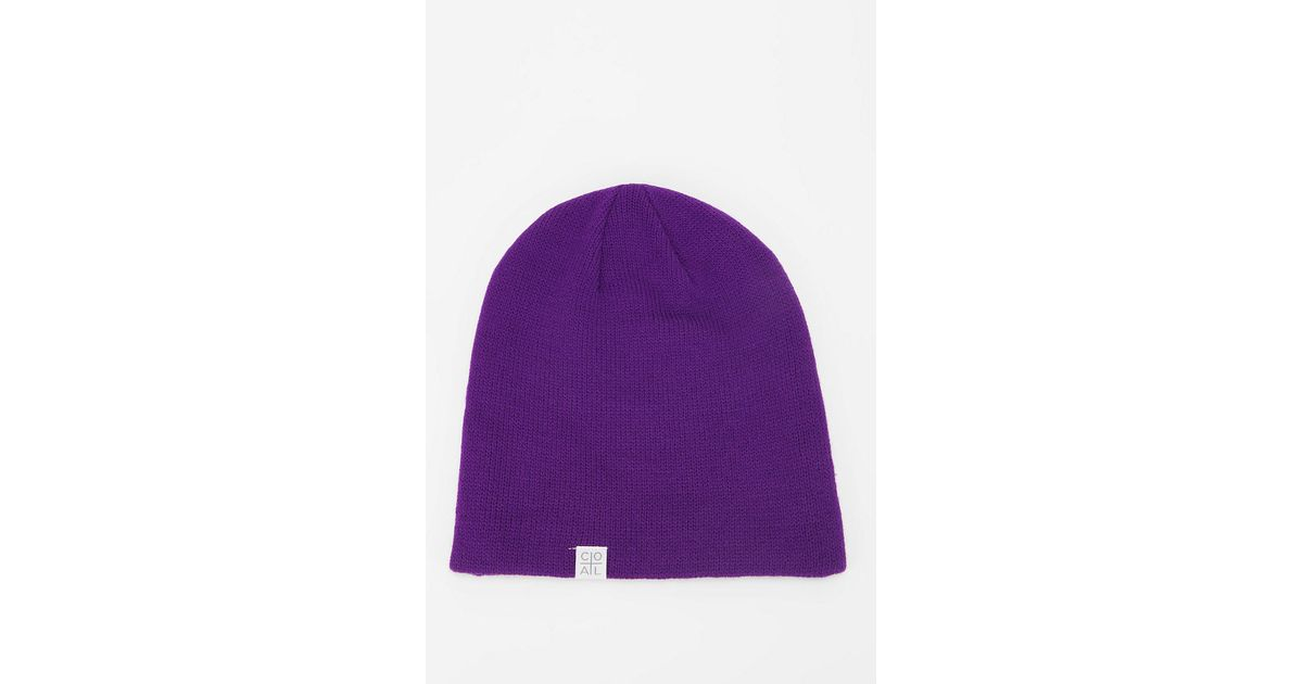 b842352b2e964 Lyst - Urban Outfitters Coal Flt Beanie in Purple