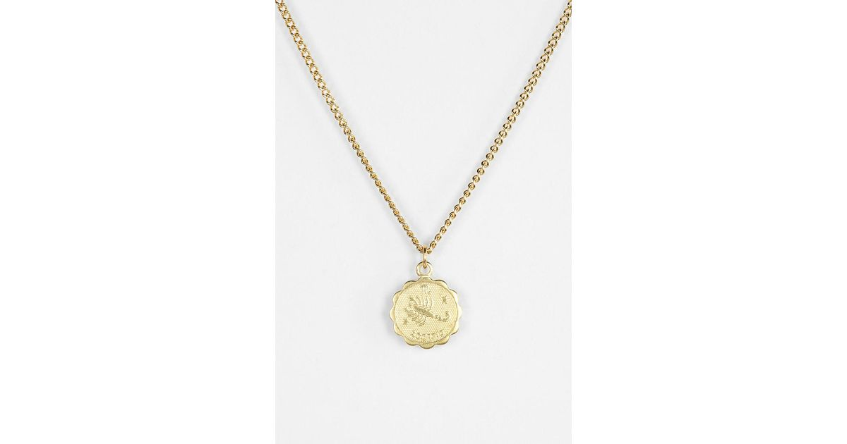 Lyst Urban Outfitters Astrology Necklace In Metallic