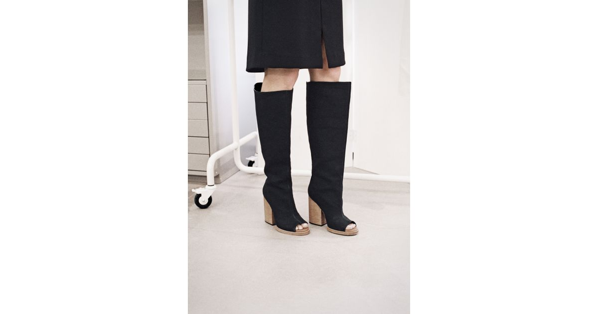 cccccf5486a   Other Stories Knee-High Boots in Black - Lyst