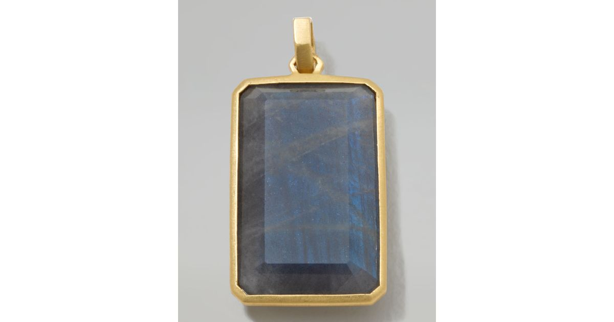 necklace bar rectangular yellow lapis and pendant gold tcw diamond s
