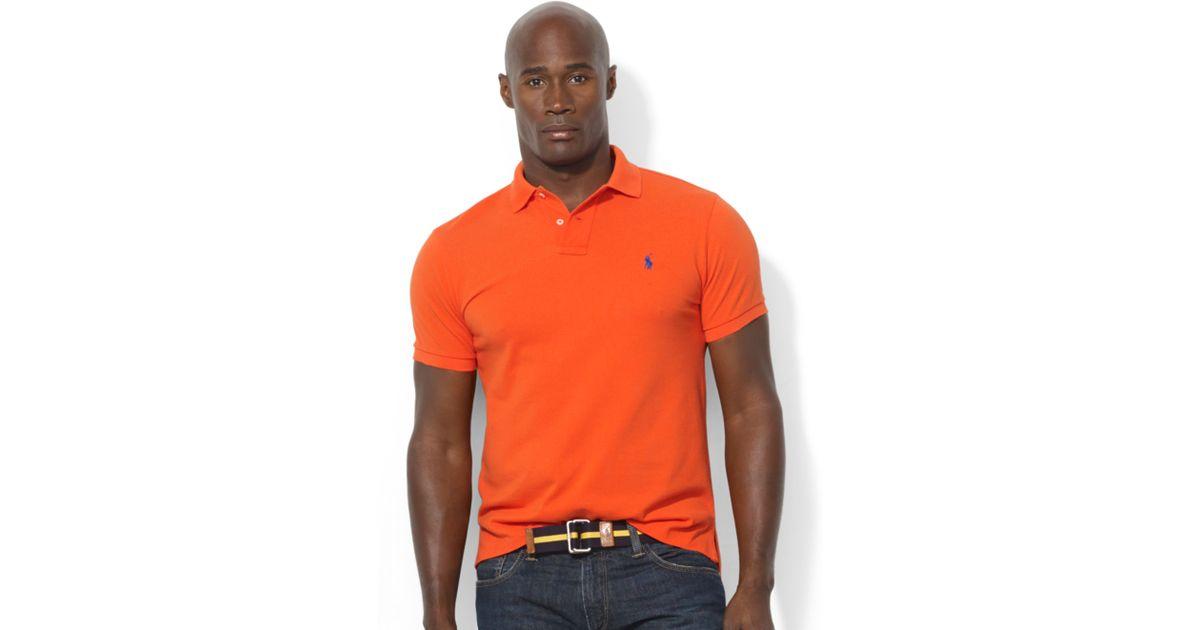 Polo Ralph Lauren Orange Short Sleeved Mesh Men
