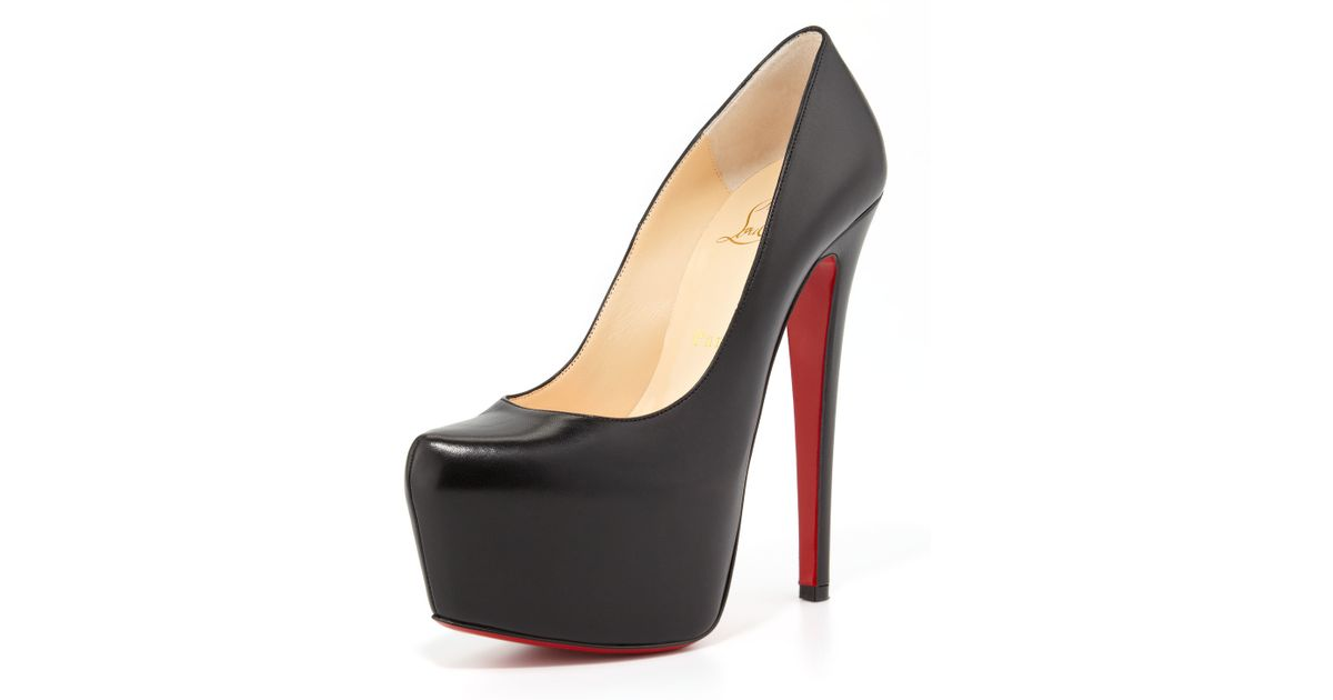 08dc2206d7e ... top quality lyst christian louboutin daffodile platform red sole pump  in black 9d8c9 64788