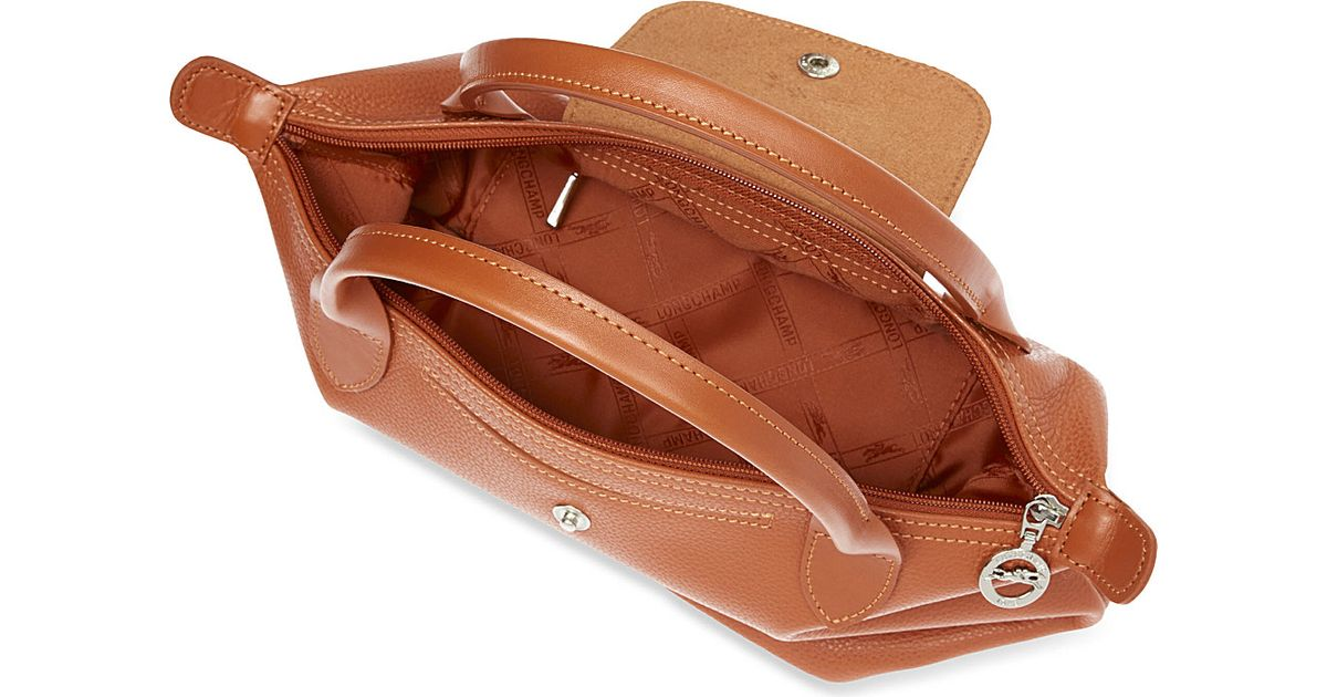 6fbbee4cb727 Longchamp Veau Foulonne Handbag in Brown - Lyst