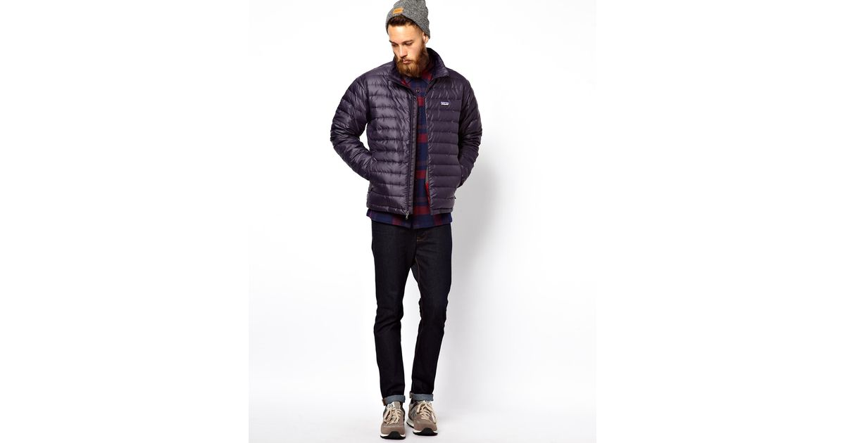 Penfield Patagonia Down Sweater Jacket in Blue for Men | Lyst