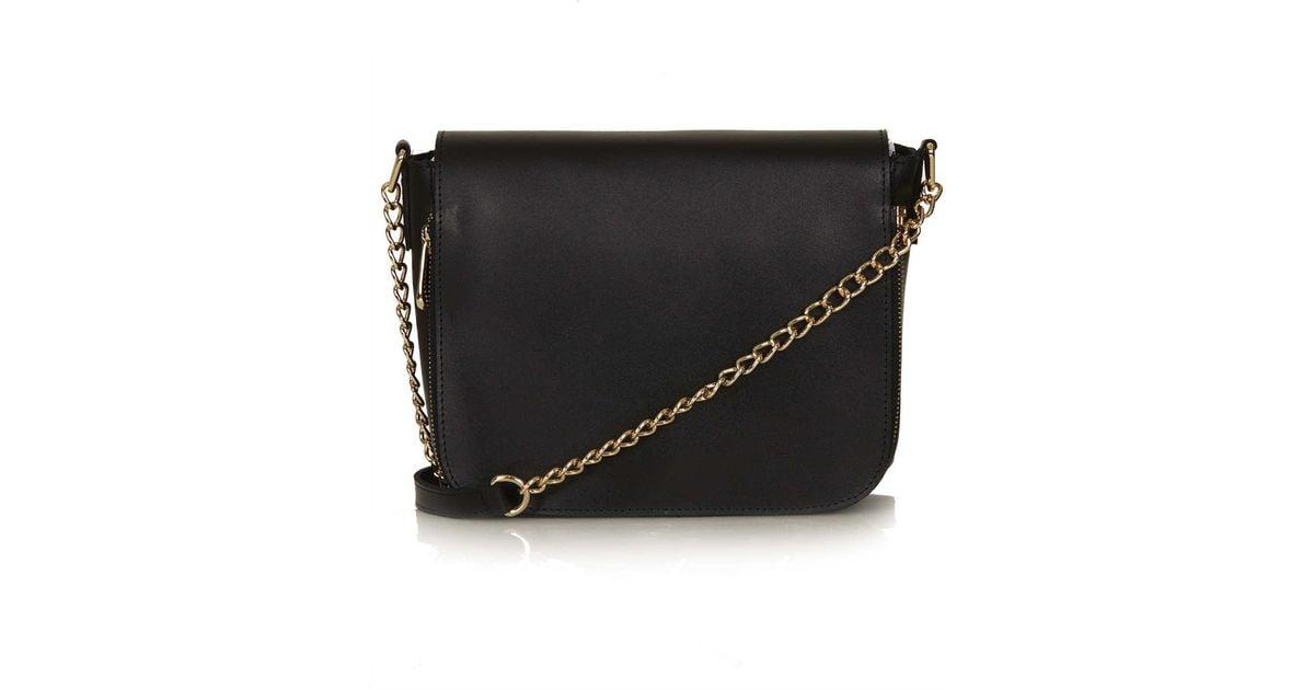 d42265ac28460 Lyst - TOPSHOP Clean Chain Strap Crossbody Bag in Black