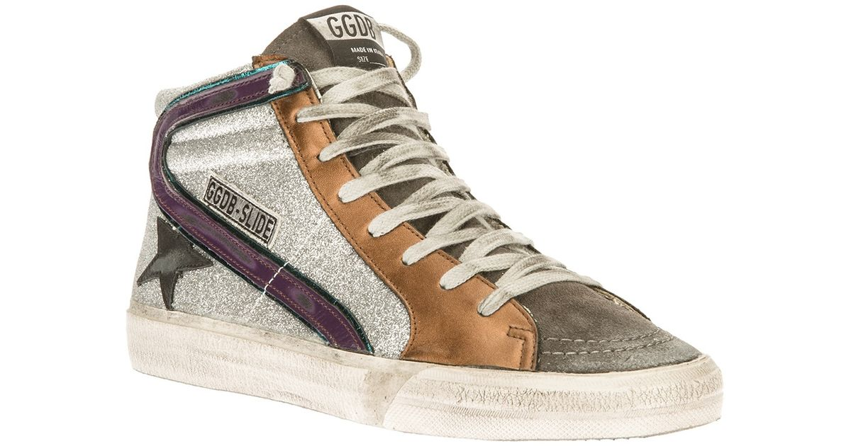 Gray Goose In Lyst Trainers Brand Hitop Golden Slide Deluxe Bw5Cx8qa
