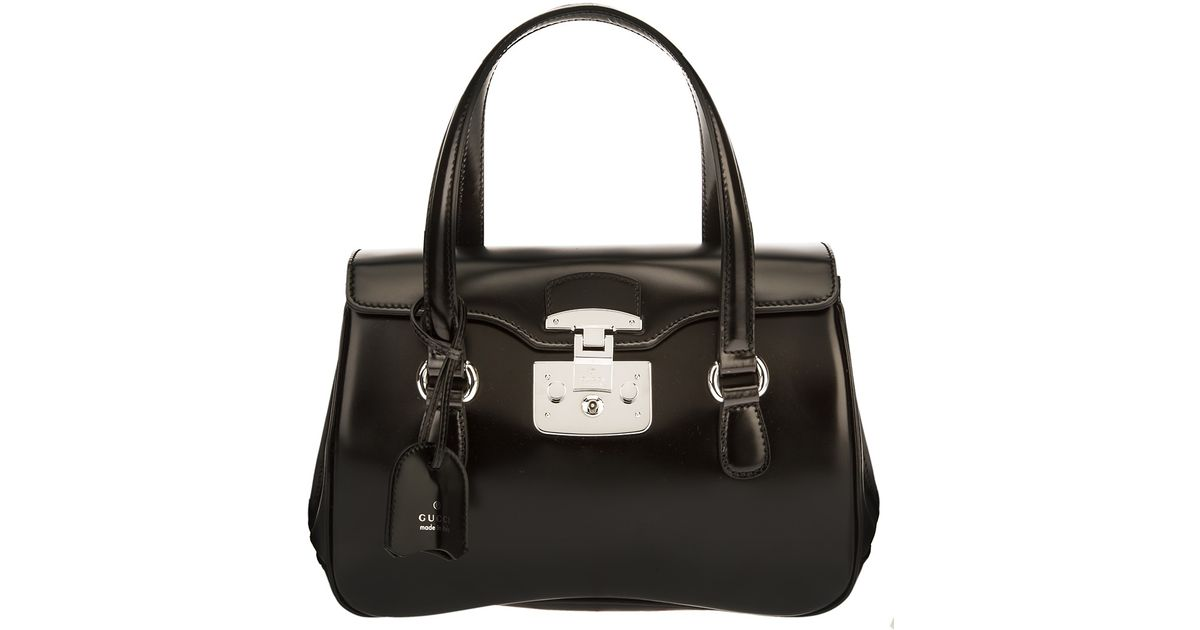 9ea69a1dcfb Lyst - Gucci Lady Lock Handbag in Black