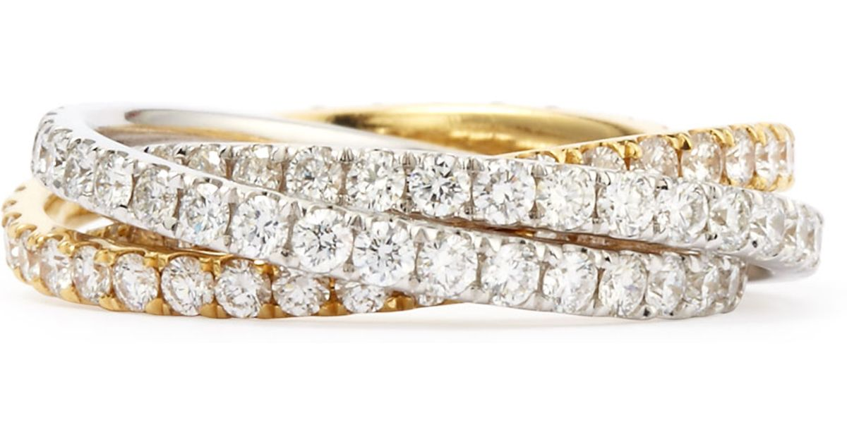 Lyst Maria Canale For Forevermark Diamond Rolling Ring In Metallic