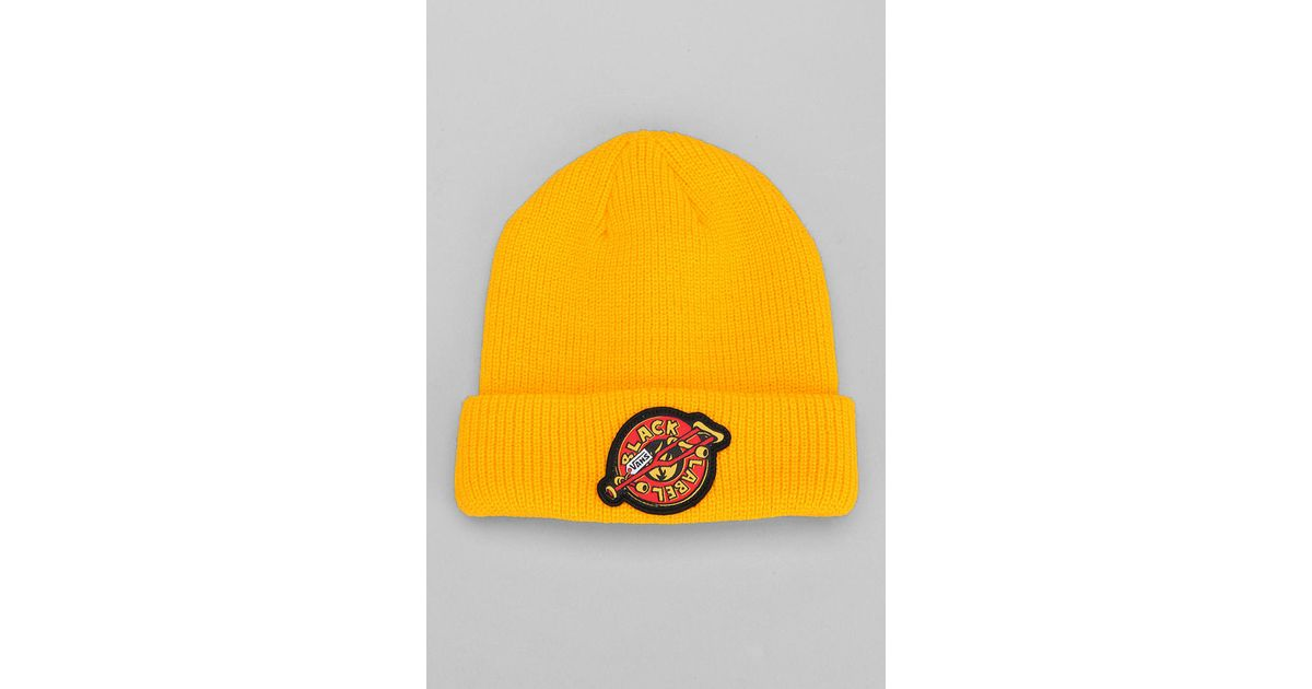 fc95037746 Lyst - Urban Outfitters Vans Black Label Skateboard Beanie in Yellow for Men