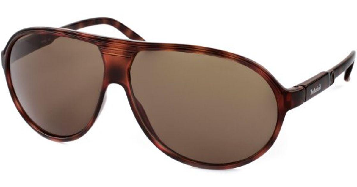 77ae226559332 Timberland Aviator Sunglasses Timbersun52e Sunglasses in Brown for Men -  Lyst