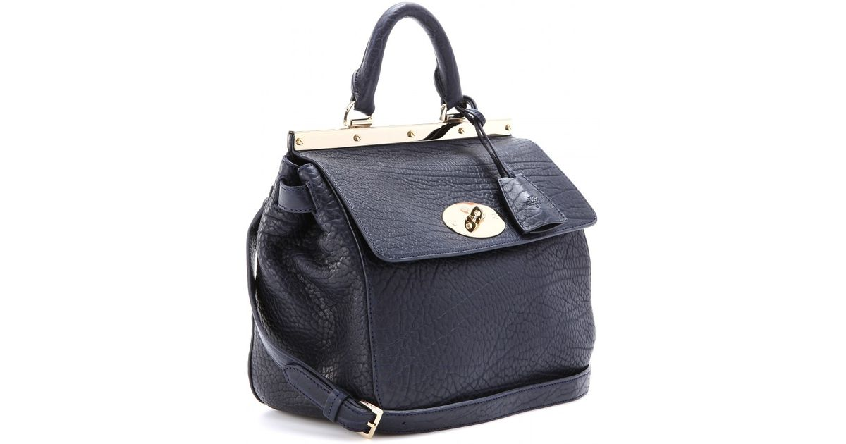 8aaa7d996067 Lyst - Mulberry Suffolk Small Leather Shoulder Bag in Blue