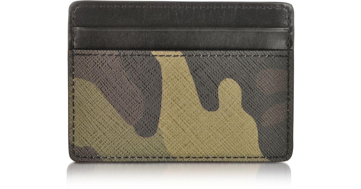 cc6b978864d5 Lyst - Michael Kors Camouflage Jet Set Card Holder in Green for Men