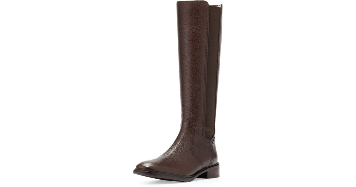 9525fc96e4a6 ... germany lyst tory burch christy tumbled leather stretch boot coconut in  brown d7909 a9857