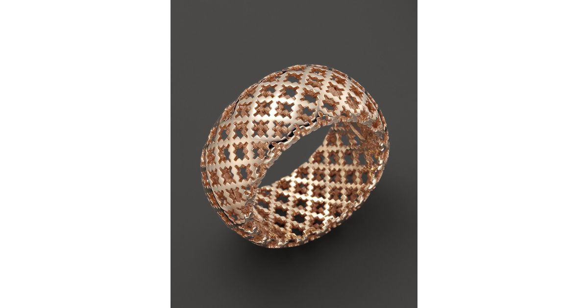 59a9dcf0e Gucci 18k Rose Gold Diamantissima Light Ring in Pink - Lyst