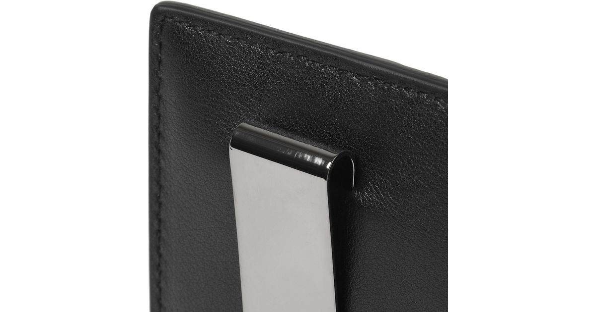 27f1d2570148 Gucci Embossed Leather Card Holder and Money Clip in Black for Men - Lyst
