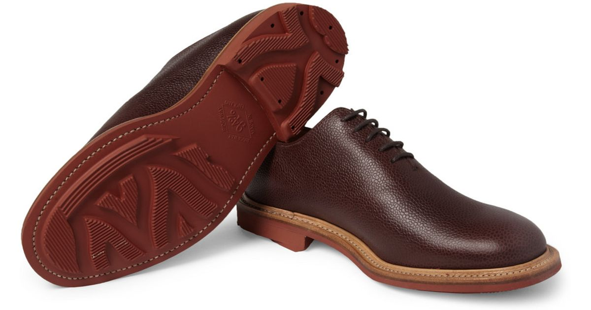 Mark Mcnairy New Amsterdam Fullgrain Onepiece Leather Oxford Shoes