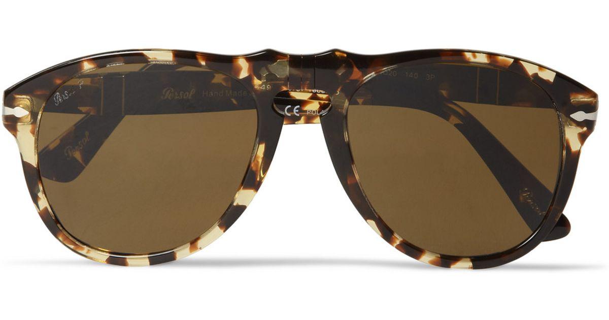 2df849c6a9df9 Persol 649 54 Tabacco Virginia Polarised Acetate Sunglasses in Brown for  Men - Lyst