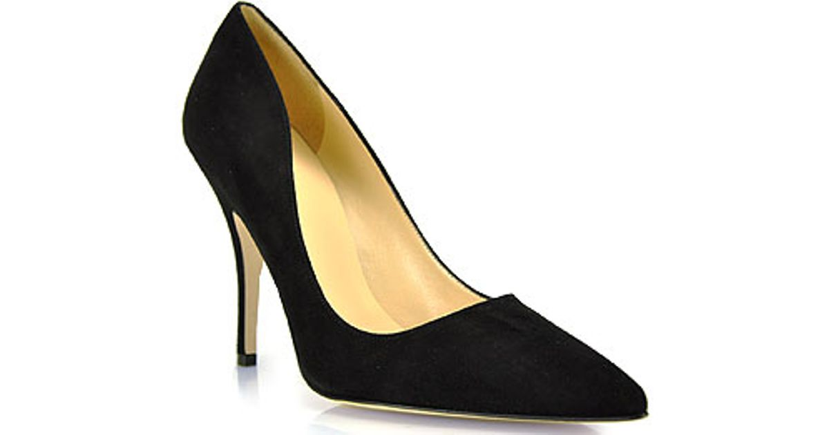 cdd927244f43 Lyst - Kate Spade New York Licorice Pump in Black Suede in Black