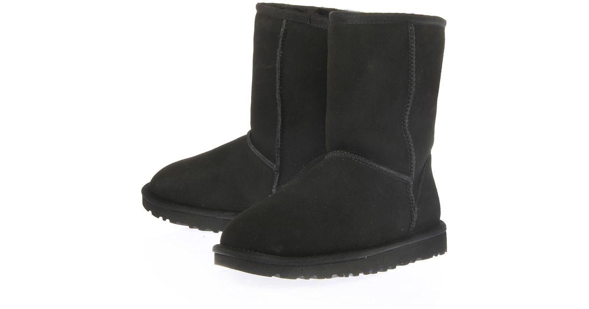ugg classic short boot black sale