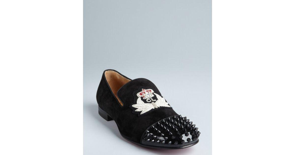 76526ac977b christian louboutin laperouza patent crest loafer