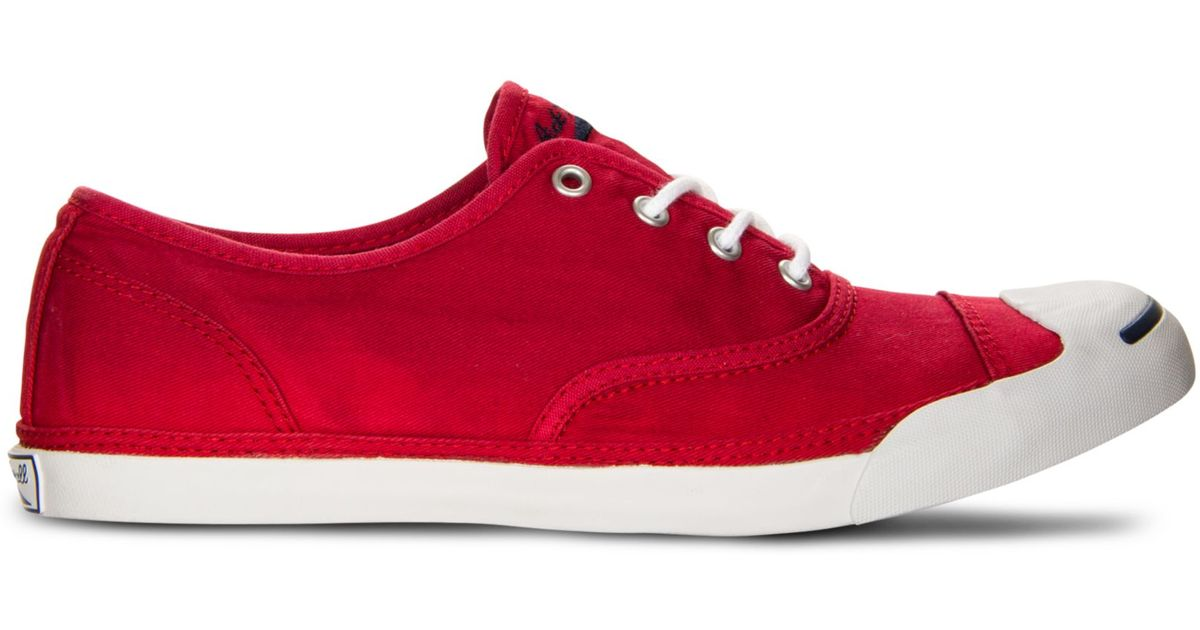 4794650b098b ... canada lyst converse jack purcell cvo lp sneakers in red for men b65f2  6d06e