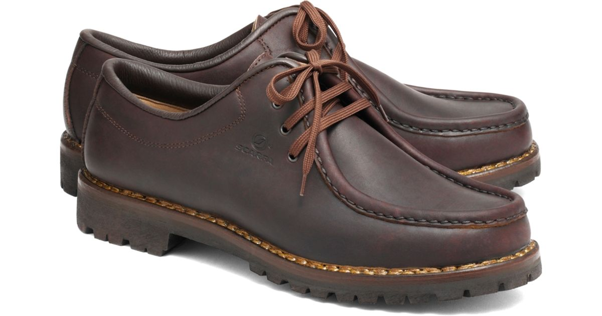 Lyst - Brooks Brothers Scarpa Anfibio Shoes in Brown for Men 955c1399160