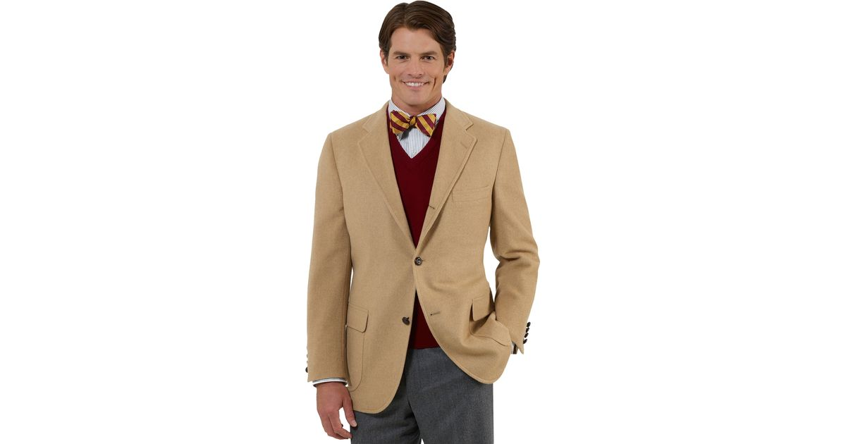 Lyst Brooks Brothers Three On Camel Hair Sport Coat In Natural For Men