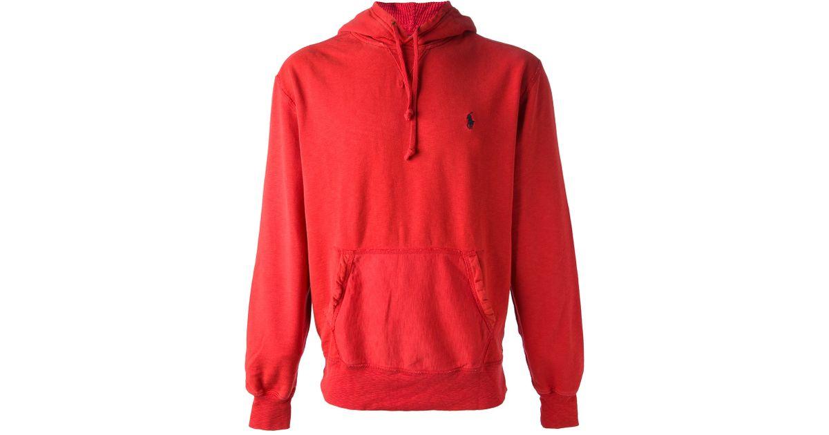 165ec9aa54f ... real lyst polo ralph lauren classic hoodie in red for men feec1 d710f