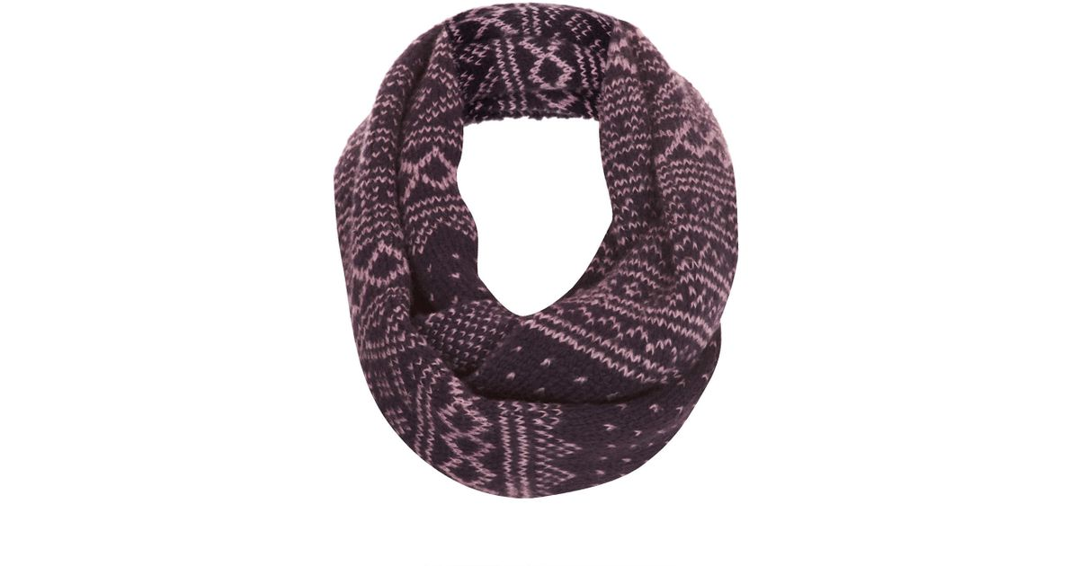 Topshop Scandi Fairisle Snood in Purple | Lyst