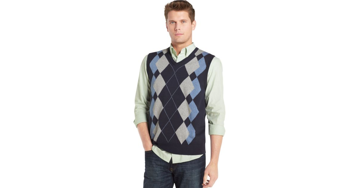 5add2bfc3 Lyst - Izod Argyle Sweater Vest for Men