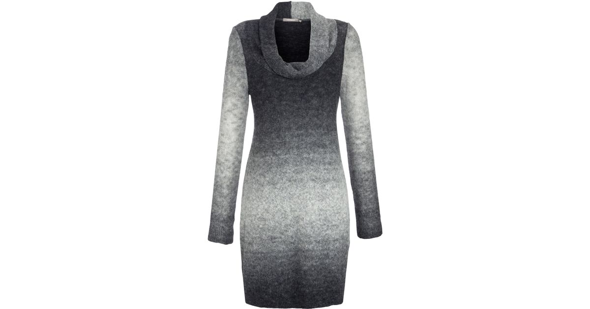 7c4c2c6969e Sandwich Stripe Cowl Neck Jumper Dress in Gray - Lyst